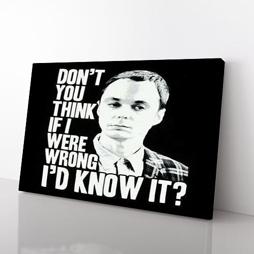 The Big Bang Theory | Sheldon Print Canvas Art