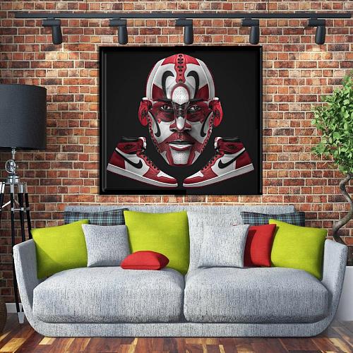 Jordan 1 inspiration Canvas Painting Art