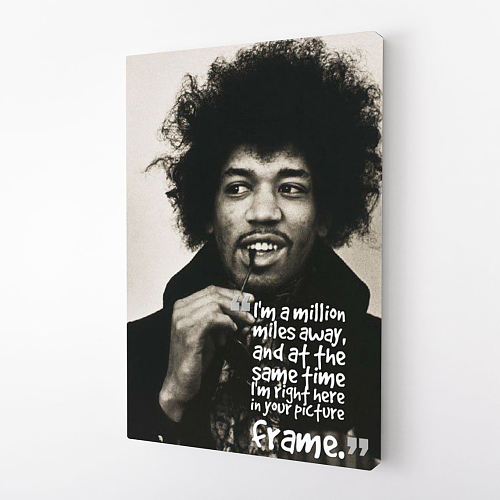 Jimi Hendrix quote Print Canvas Art