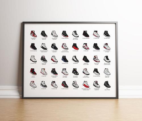 Air Jordan shoes Canvas Art