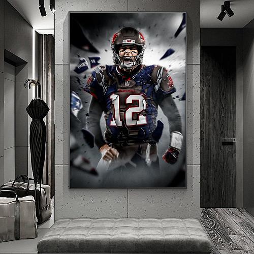 NFL Tom Brady Canvas Painting Art