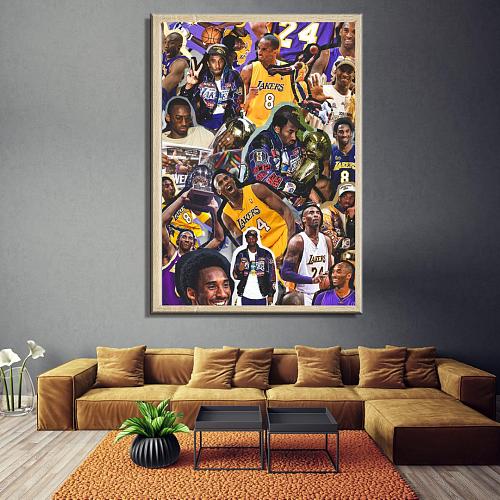 Kobe Inspired Legends Canvas Painting Art