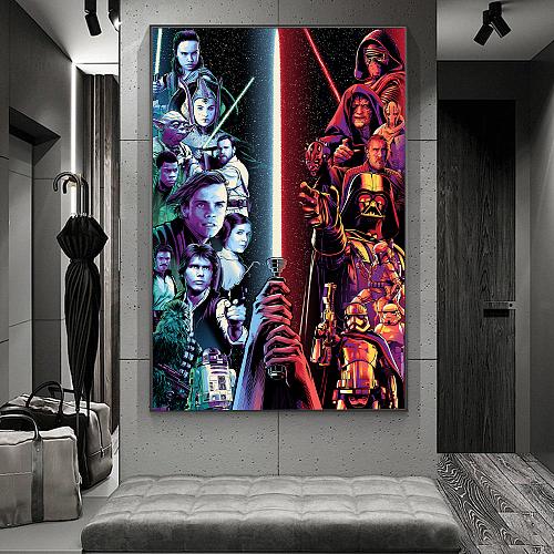 Star Wars Print Canvas Art