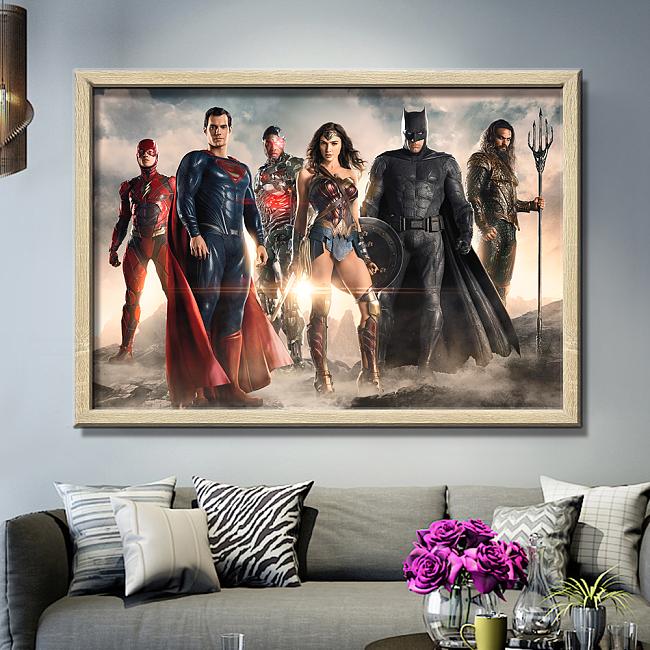 Justice League Panorama Print Canvas Art