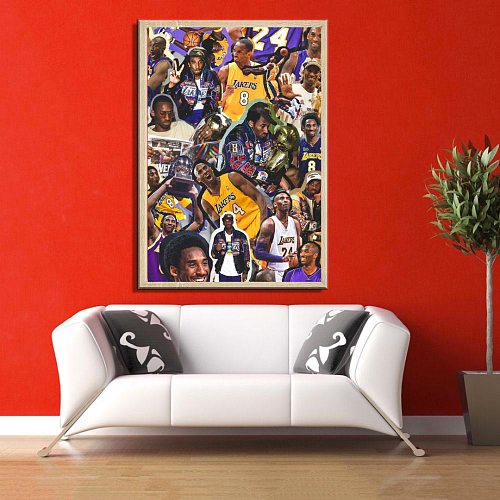 Kobe Inspired Legends Canvas Painting Art