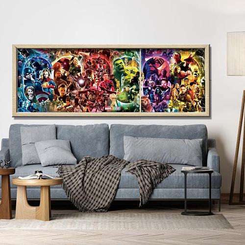 Marvel Movie Panorama Print Canvas Art