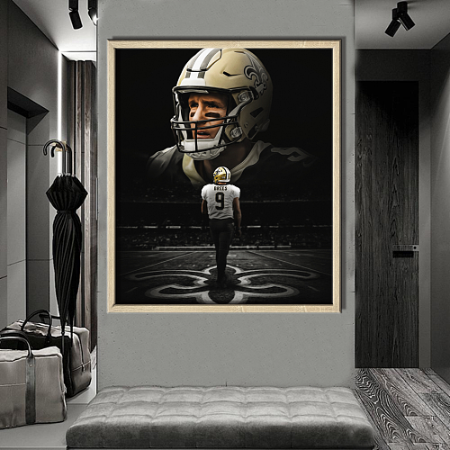 Drew Brees-New Orleans Saints inspiration Canvas Painting Art