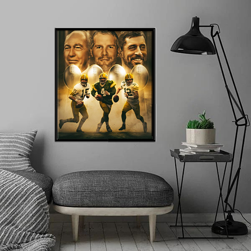 Green Bay Packers inspiration Canvas Painting Art