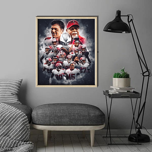 """""""SB 55 Champs""""Tampa Bay Buccaneers inspiration Canvas Painting Art"""