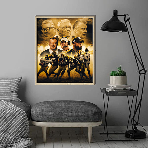Pittsburgh Steelers inspiration Canvas Painting Art
