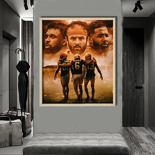 Cleveland Browns-inspiration Canvas Painting Art