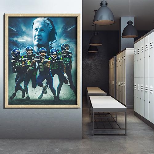 """2013 Seahawks"" Seattle Seahawks-inspiration Canvas Painting Art"