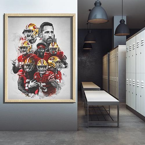 SanFrancisco 49ers-inspiration Canvas Painting Art