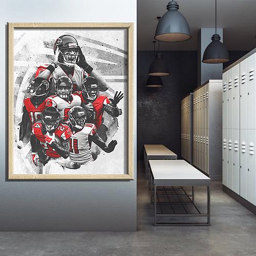 Atlanta Falcons-inspiration Canvas Painting Art