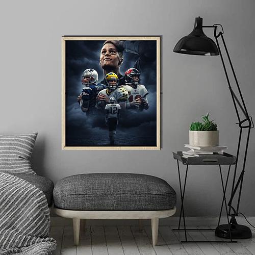 NFL Tom Brady Canvas Art