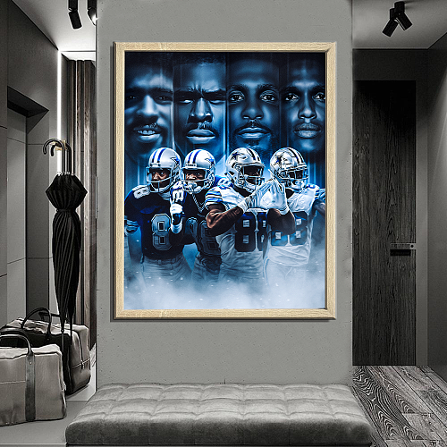Dallas Cowboys -inspiration Canvas Painting Art