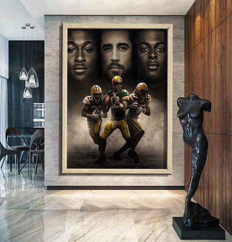 """Triplets"" -Green Bay Packers -inspiration Canvas Painting Art"