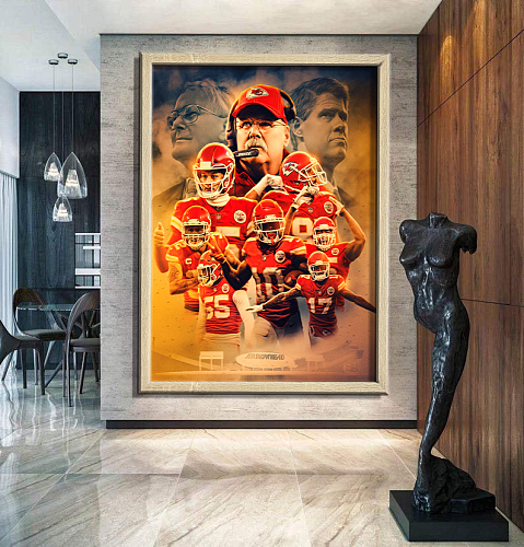 Kansas City Chiefs -inspiration Canvas Painting Art