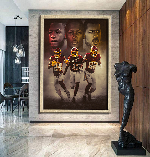 Washington Football Team -inspiration Canvas Painting Art