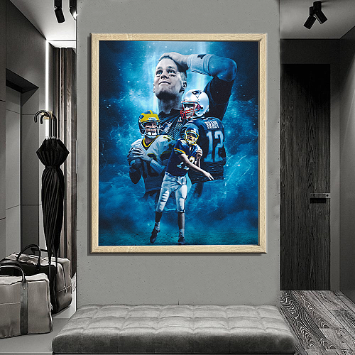 Tom Brady -inspiration Canvas Painting Art