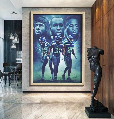 Seattle Seahawks-inspiration Canvas Painting Art
