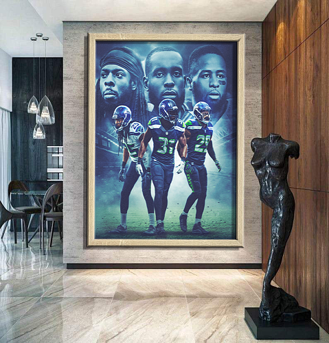 Seattle Seahawks-inspiration Canvas Painting Art