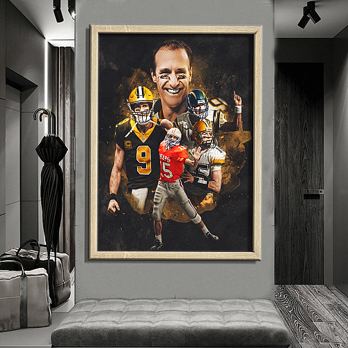 """Drew Brees""New Orleans Saints - inspiration Canvas Painting Art"