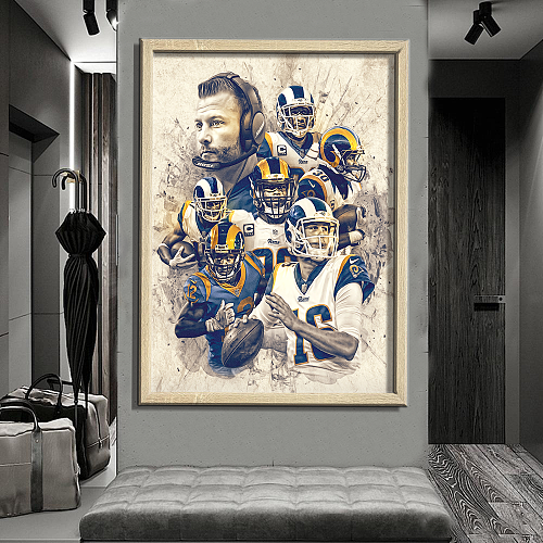 Los Angeles Rams-inspiration Canvas Painting Art