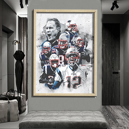 New England Patriots-inspiration Canvas Painting Art