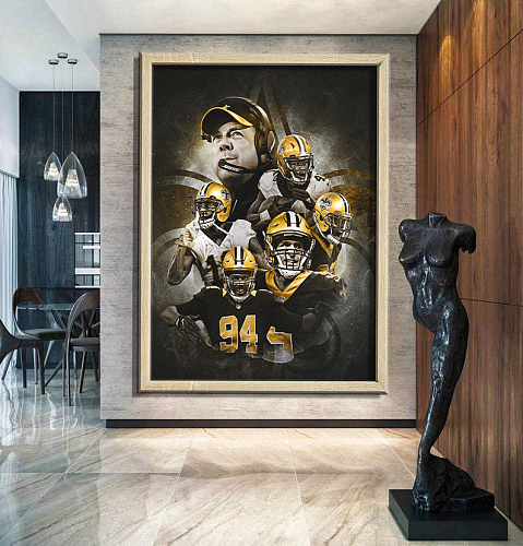 New Orleans Saints-inspiration Canvas Painting Art