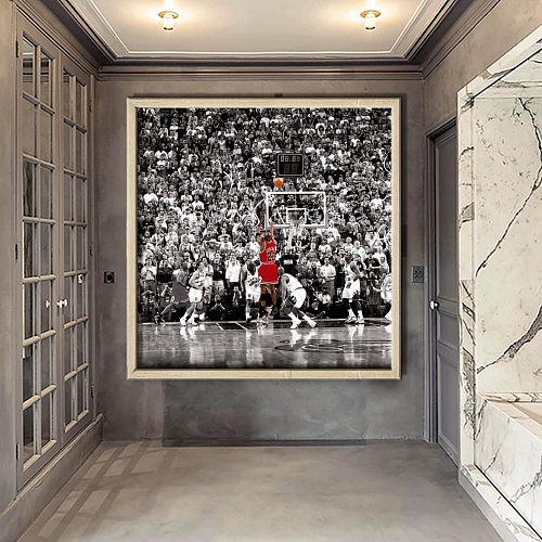 Michael Jordan Last Shot Canvas Painting Art