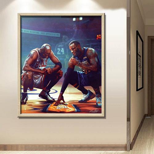 Lebron James-Michael Jordan-Kobe Bryant Canvas Art
