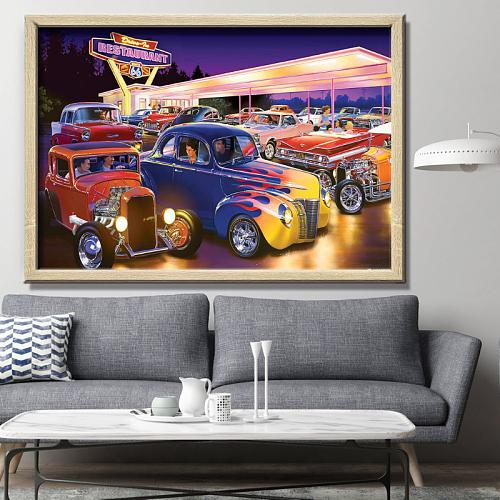 Vintage Car Canvas Wall Art