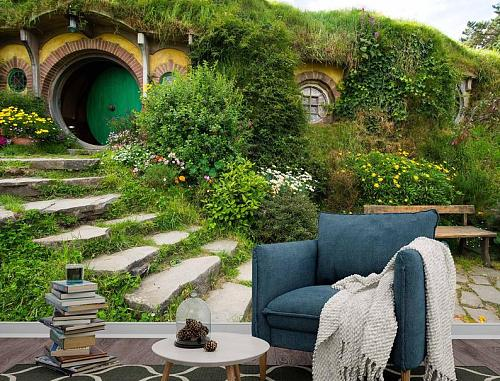 The Hobbit Fairy House Wall Mural