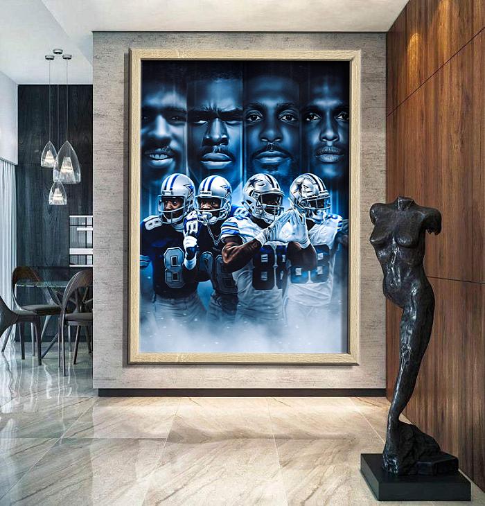 Dallas Cowboys -inspiration Canvas Painting Art