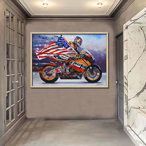 Nicky Hayden Limited edition Canvas Wall Art
