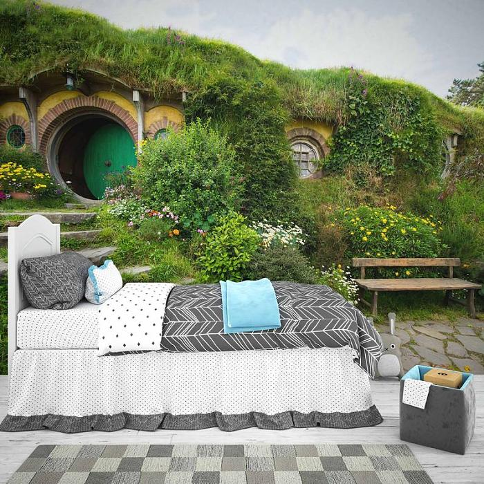 The Hobbit Fairy House Wall Mural