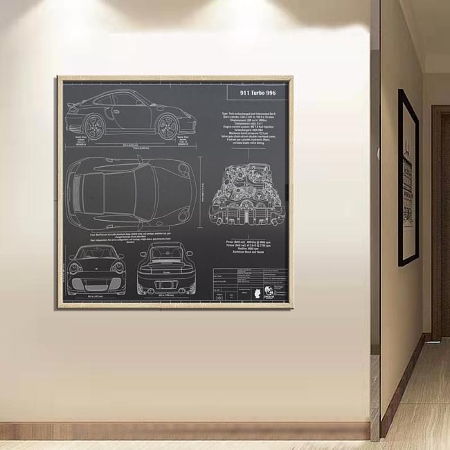 Porsche 911 Carrera S (991) Wall Art