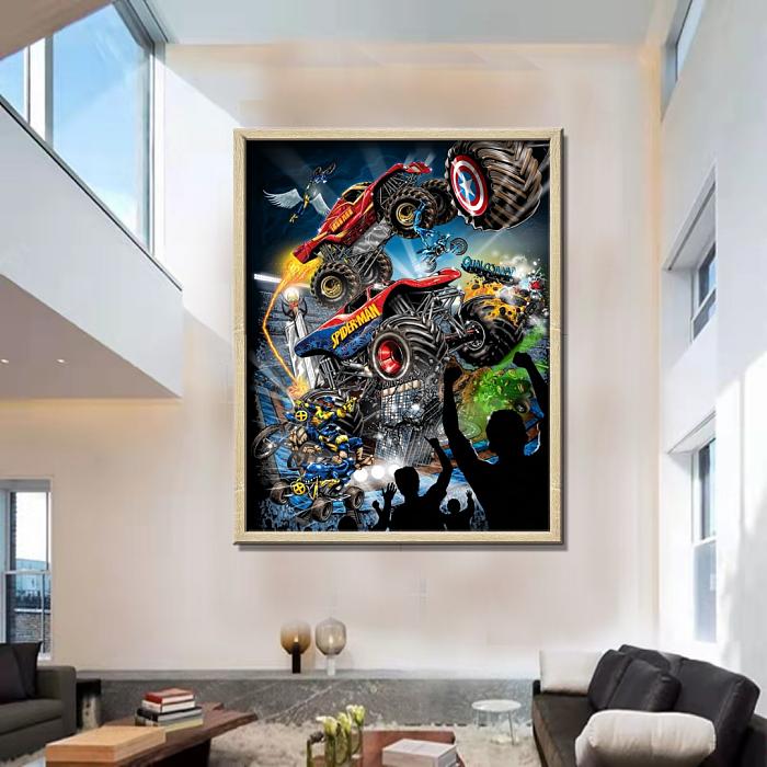Marvel Monster Trucks Art Canvas