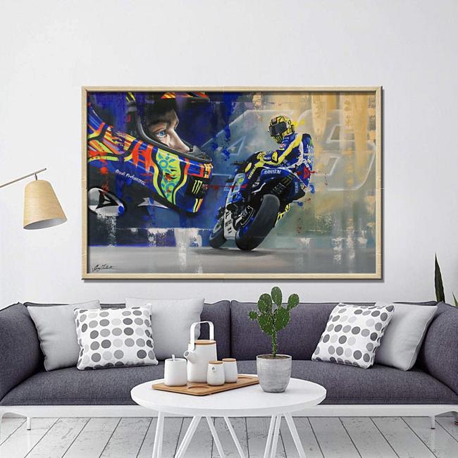 MotoGP-Valentino Rossi Canvas Wall Art