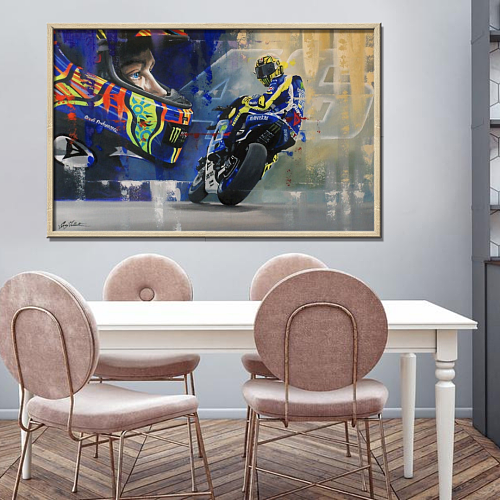 MotoGP-Valentino Rossi Canvas Wall Art