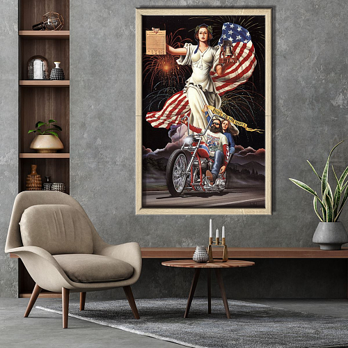 Harley Davidson-Fight For Your Rights Canvas Wall Art