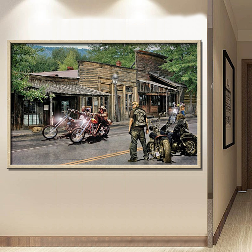 Harley Davidson-Sons of Anarchy Canvas Wall Art