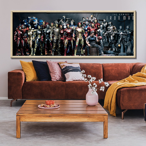 The Armors Of Ironman Print Canvas Art