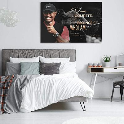 Tiger Woods Golf Masters Canvas Painting Art