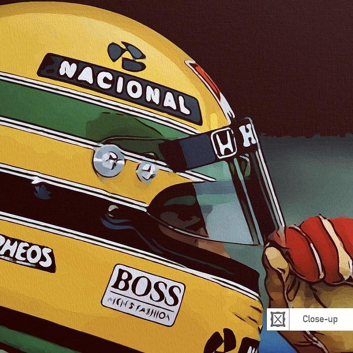 Ayrton Senna F1 Formula One fine Art canvas Wall Art