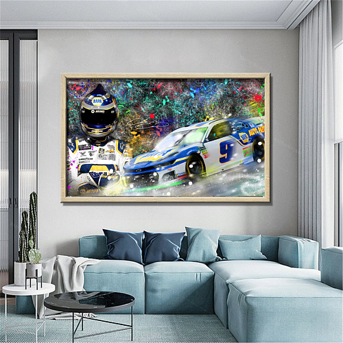 CHASE ELLIOTT NASCAR Canvas Wall Art