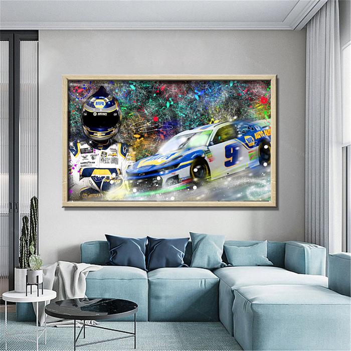 CHASE ELLIOTT NASCAR Canvas Wall Art