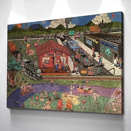 100 Grateful Dead Songs Album Cover Design Canvas Art