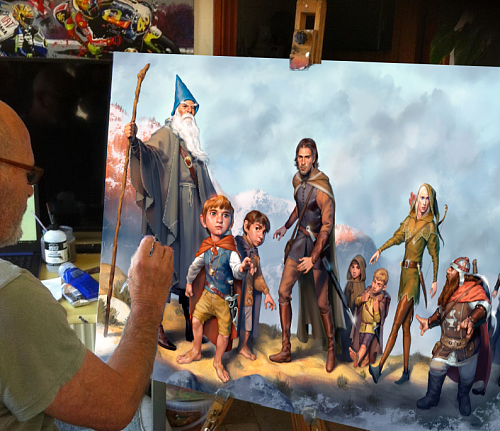 The Lord of the Rings Canvas Painting Art